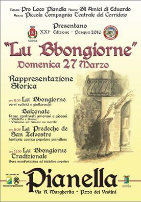"""XXI edizione Rappresentazione Storica de """"Lu Bbongiorne""""  - Pasqua 2016"""