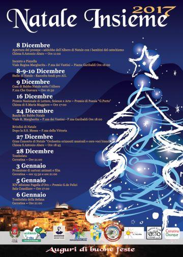 Natale Insieme 2017: il calendario degli eventi in programma