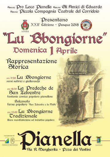 XXII ed. Rappresentazione Storica de Lu Bbongiorne - Pasqua 2018