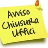 Avviso chiusura Front Office Ufficio Tributi 29-30 giugno 2021